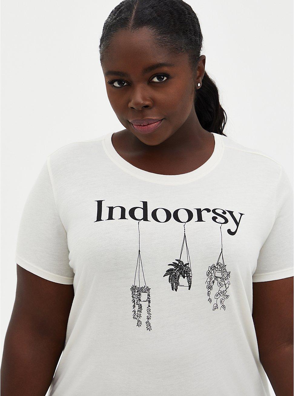 Indoorsy Crew Tee - Ivory, IVORY, hi-res