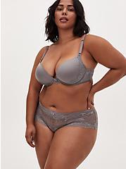 Silver Grey Lace Back Slit Hipster Panty, SILVER FILIGREE, alternate