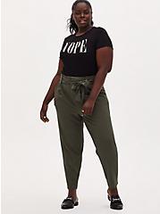Nope Slim Fit Crew Tee - Super Soft Rib Black, DEEP BLACK, alternate