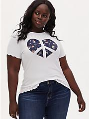 Plus Size Floral Peace Heart Crew Tee - Super Soft Rib White , BRIGHT WHITE, hi-res