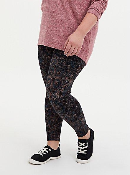 Plus Size Premium Legging - Kaleidoscope Multi & Black, MULTI, alternate