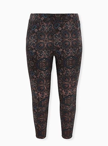 Plus Size Premium Legging - Kaleidoscope Multi & Black, MULTI, hi-res