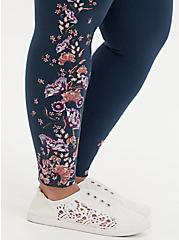 Premium Legging - Floral Navy, BLUE, alternate