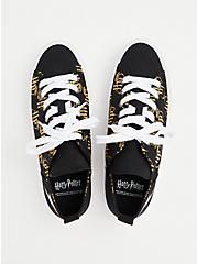 Plus Size Harry Potter Golden Snitch Black Canvas Sneaker (WW), BLACK, alternate