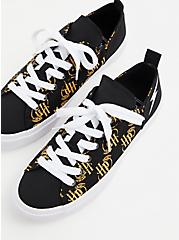 Plus Size Harry Potter Golden Snitch Black Canvas Sneaker (WW), BLACK, hi-res