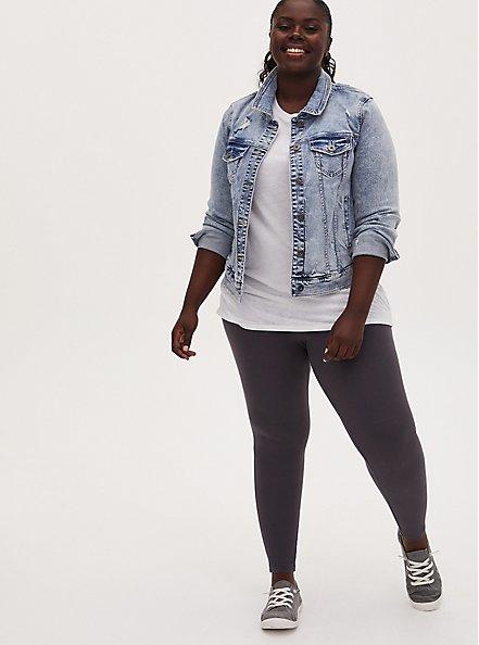 Plus Size Premium Legging - Dark Slate Grey, GREY, hi-res
