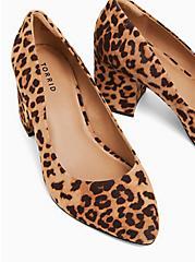 Leopard Faux Suede Block Heel Pump (WW), ANIMAL, alternate