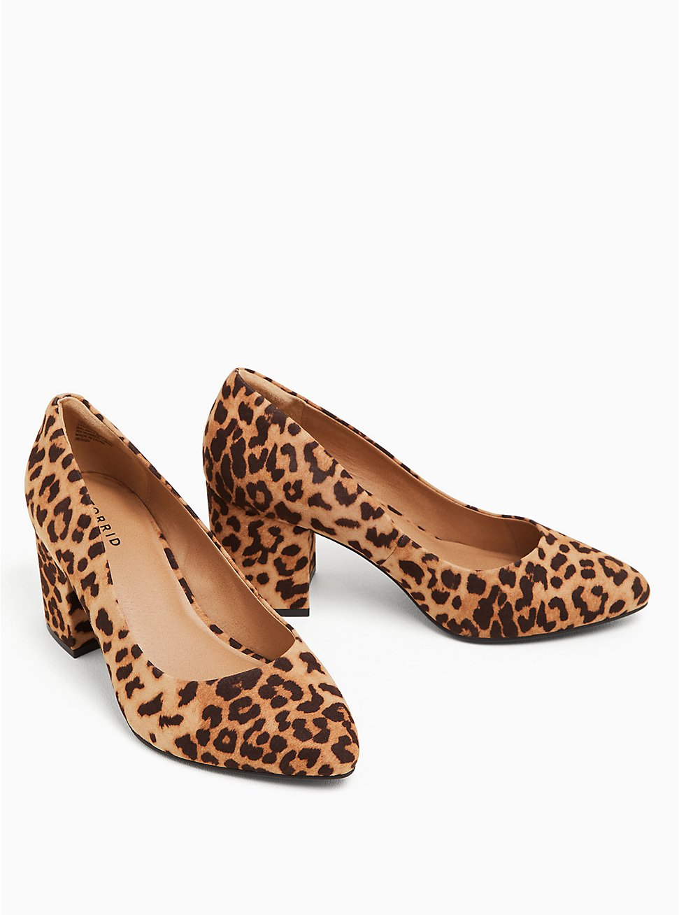 Leopard Faux Suede Block Heel Pump (WW), ANIMAL, hi-res