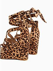 Leopard Faux Suede Ankle Wrap Platform Wedge (WW), ANIMAL, alternate