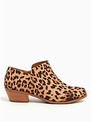 Leopard Faux Suede Ankle Bootie (WW), ANIMAL, alternate