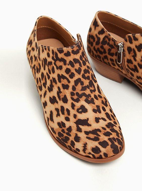 Leopard Faux Suede Ankle Bootie (WW), ANIMAL, hi-res