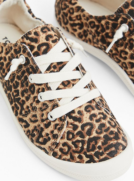 Riley - Leopard Ruched Sneaker (WW), , hi-res