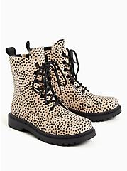 Stevie Lace-Up Combat Boot - Faux Leather Leopard (WW), ANIMAL, alternate
