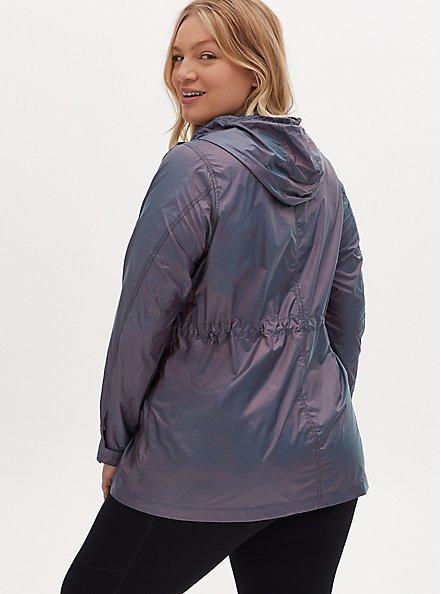 Blue Reflective Nylon Active Windbreaker Jacket, MEDEVIAL BLUE, alternate