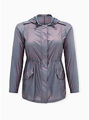 Blue Reflective Nylon Active Windbreaker Jacket, MEDEVIAL BLUE, hi-res