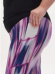 Multi Watercolor Stripe Wicking Active Legging with Pockets, OTHER PRINTS, alternate