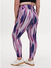 Plus Size Multi Watercolor Stripe Wicking Active Legging with Pockets, OTHER PRINTS, alternate