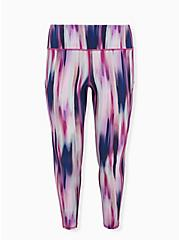 Plus Size Multi Watercolor Stripe Wicking Active Legging with Pockets, OTHER PRINTS, hi-res