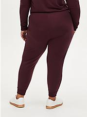 Classic Fit Crop Active Jogger - Terry Burgundy Purple , WINETASTING, alternate