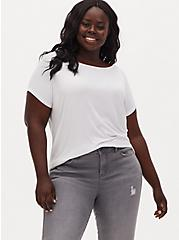 Slim Fit Boat Neck Tee - Super Soft Washed White, BRIGHT WHITE, hi-res