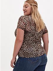 Leopard Sheer Mesh Crew Tee, , alternate