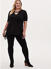 Super Soft Black Sharkbite Top, DEEP BLACK, alternate