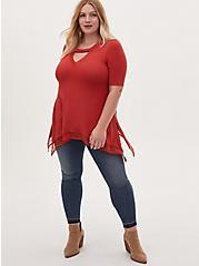Super Soft Red Terracotta Sharkbite Top, TANDOORI SPICE, alternate