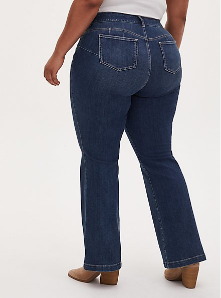 Bombshell Flare Jean - Premium Stretch Eco Medium Wash , EMERSON, alternate