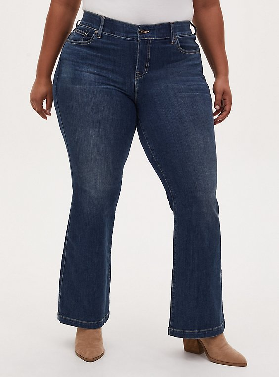 Bombshell Flare Jean - Premium Stretch Eco Medium Wash , EMERSON, hi-res