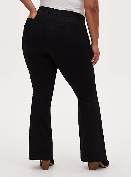 Bombshell Flare Jean - Premium Stretch Black , BLACK, alternate