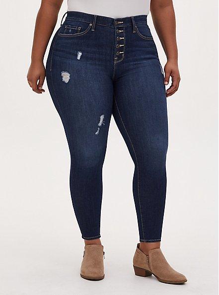 Sky High Skinny Jean - Premium Stretch Eco Medium Wash, ENGLISH CHANNEL, alternate