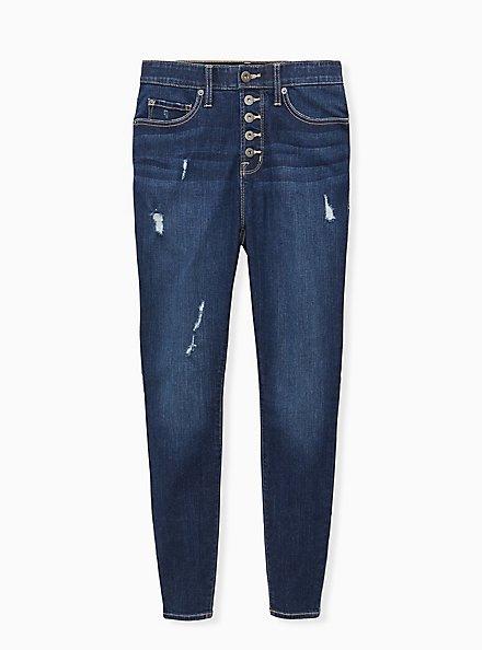 Sky High Skinny Jean - Premium Stretch Eco Medium Wash, ENGLISH CHANNEL, hi-res