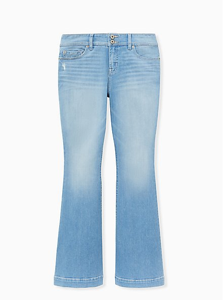 Mid Rise Flare Jean - Premium Stretch Light Wash , BEVERLY HILLS, hi-res