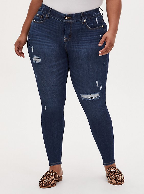 Bombshell Skinny Jean - Premium Stretch Eco Medium Wash, TOPANGA, hi-res