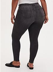 Plus Size Bombshell Skinny Jean - Super Soft Dark Grey Wash , IN SPADES, alternate