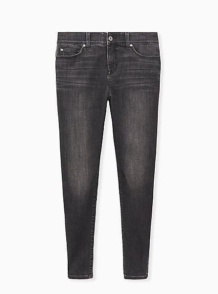 Bombshell Skinny Jean - Super Soft Dark Grey Wash , IN SPADES, hi-res