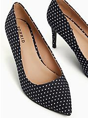 Black Polka Dot  Pointed Toe Pump (WW), BLACK, alternate