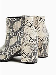 Snakeskin Print Faux Leather Block Heel Bootie (WW), ANIMAL, alternate