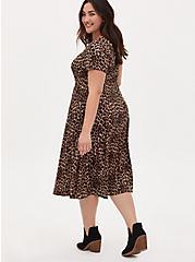 Leopard Challis Button Midi Dress, MIDI LEOPARD, alternate