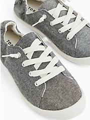 Plus Size Riley - Charcoal Grey Ruched Sneaker (WW), GREY  CHARCOAL, hi-res