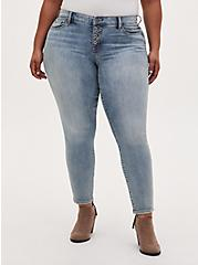 Mid Rise Skinny Jean - Vintage Stretch Light Wash , DREAM ON, hi-res