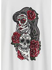 Muerta Skull Slim Fit Crew Tee - White, BRIGHT WHITE, alternate