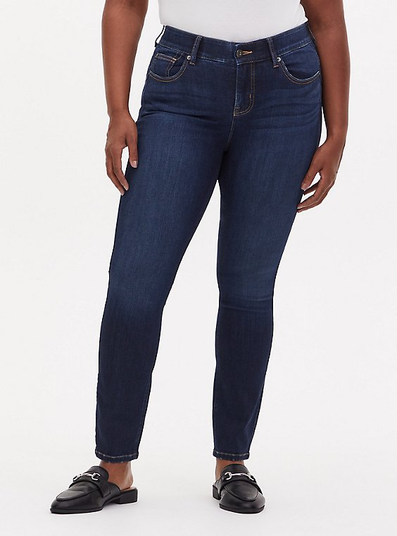 Bombshell Straight Jean - Premium Stretch Eco Dark Wash , CANARY WHARF, hi-res