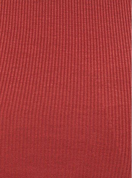 Slim Fit Crew Tee - Super Soft Rib Red Terracotta, TANDOORI SPICE, alternate
