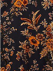 Multi Floral Burnout Ruana, , alternate