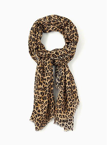 Leopard Extra Long Luxury Scarf, , alternate