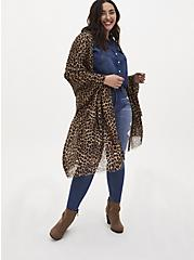 Leopard Extra Long Luxury Scarf, , hi-res