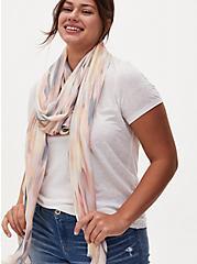 Multi Tie Dye Extra Long Luxury Scarf, , hi-res
