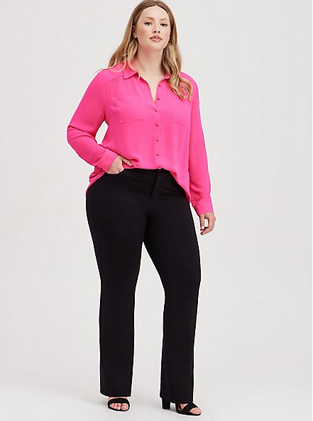 Bombshell Slim Boot Pant - Premium Ponte Black, DEEP BLACK, alternate