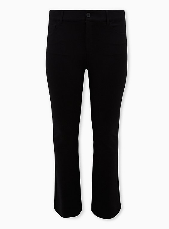 Bombshell Slim Boot Pant - Premium Ponte Black, , flat